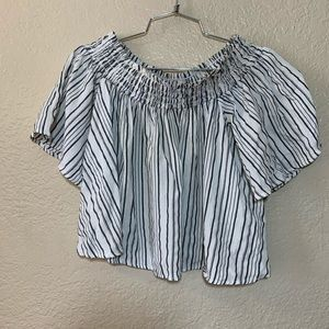 Kimchi Blue Striped Off The Shoulder Top